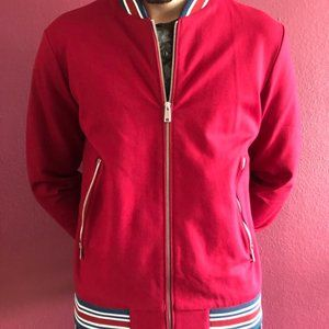 Men's Zara Bomber in Red
